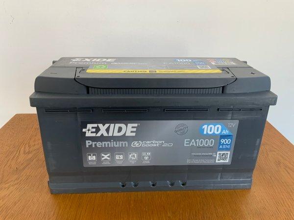 Exide Premium Carbon Boost 12V 100AH 900A(EN)