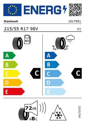 Hankook 215/55 R17 V 98 i*cept evo2 W320 XL (KOR)  C C 72 W2155517