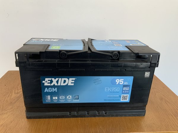 EXIDE EK950 AGM Starterbatterie 12V 95Ah(20h) 850A(EN)