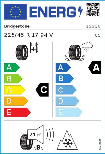 Bridgestone 225/45 R17 94V Blizzak LM-005 XL FSL M+S  C A 71 W2254517