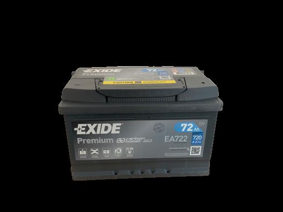 EXIDE PREMIUM EA722 Starterbatterie 12V 72AH(20h) 720A(EN)