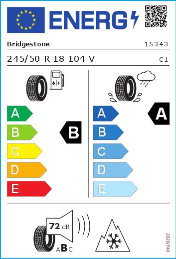 Bridgestone 245/50 R18 104V Blizzak LM-005 XL FSL M+S  B A 72 W2455018