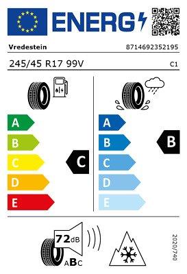 Vredestein 245/45 R17 99V Wintrac Pro XL FSL 3PMSF  C B 72 W2454517