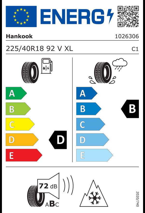 Hankook 225/40 R 18 V 92 i*cept evo3 W330 UHP XL  D B 72 W2254018