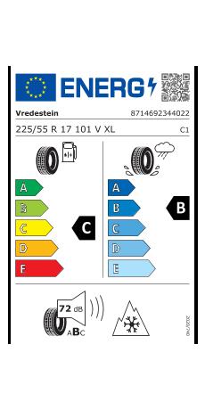 Vredestein 225/55 R17 101V Wintrac Pro XL 3PMSF  C B 72 W2255517